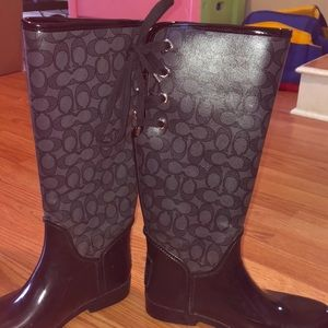 Coach Brand rain boots